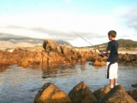 David Naude fishing in Pringle Bay